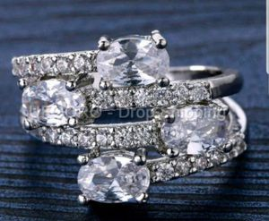 $12 brand new size 9 or 10 silver plated CZ ring for Sale in Manchester, MO