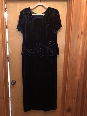 Blue velvet mother of the groom dress for Sale in Interlochen, MI