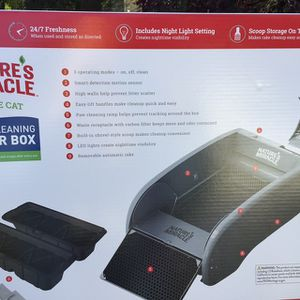 Nature's Miracle Single Cat Self Cleaning Cat Box for Sale in SeaTac, WA