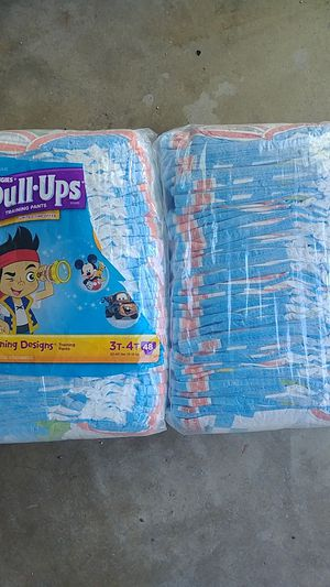 Huggies Pull-ups 3T-4T 3 unopened packages approx 60 for Sale in San Diego, CA