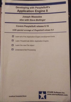 Developing with PeopleSoft's Application Engine 8 by Joseph Weessies for Sale in Colorado Springs, CO