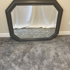 Gray Painted Oak Framed Mirror for Sale in University Place, WA