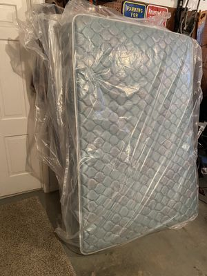 Full size bed bed frame box spring and mattress for Sale in Bethel, OH