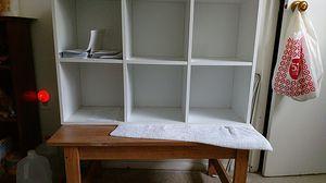 Table & bookshelve for Sale in Waterbury, CT