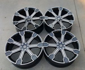 """24"""" wheels Dodge Ram 1500 Ford F150 black rims 5x5.5 5x139.7 5x135 mm bolt pattern for Sale in Commerce City, CO"""
