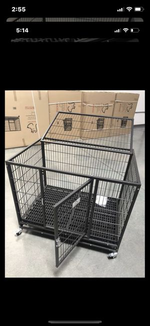 Heavy duty dog pet kennel cage crate with plastic floor brand new in factory sealed 📦. See dimensions in second picture🇺🇸 for Sale in Las Vegas, NV