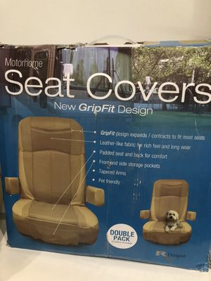 Motorhome Seat Covers Double Pack for Sale in Dallas, TX