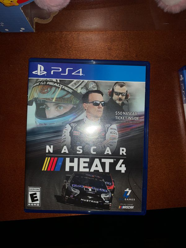 """NASCAR """"HEAT"""". 4 (four). PS4 Game.....NEW!"""