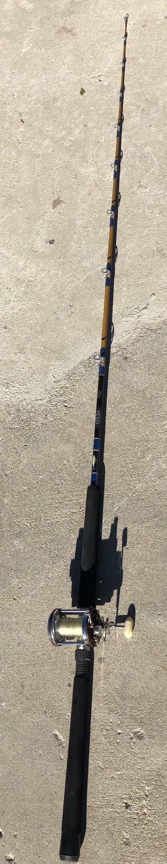 Sabre Pacifica fishing rod with penn aquifer reel combo ocean saltwater for Sale in San Bernardino, CA