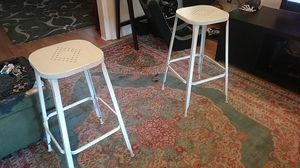 Two high seated brand name bar stools for Sale in Columbus, OH