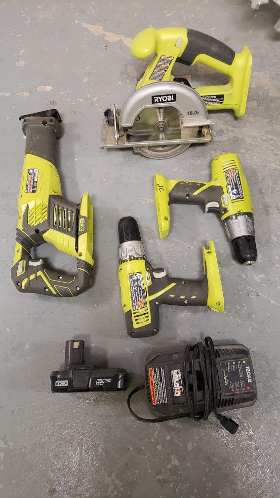 Ryobi one tool set