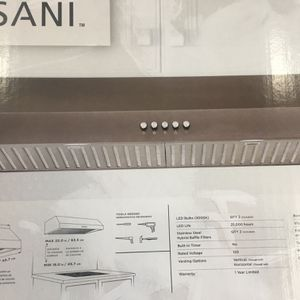 Vissani 30 in. W 7 in. 370 CFM Under the Cabinet Range Hood with LED Bulbs in Black Stainless Steel for Sale in Austell, GA