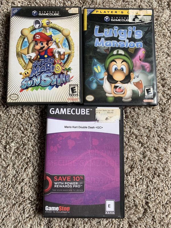 Mario Sunshine Mario Kart Double Dash Luigi's Mansion GameCube Games