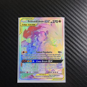 Pokémon Card Reshiram & Zekrom Rainbow GX, Cosmic Eclipse PSA 10?? for Sale in Miami, FL