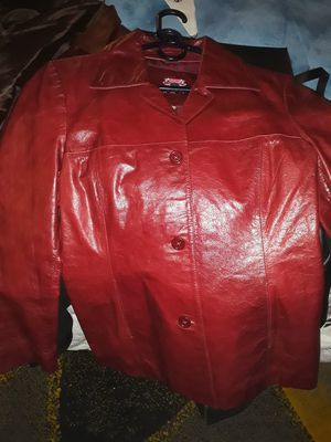 Washington dc pick up only womens red leather coat for Sale in Washington, DC