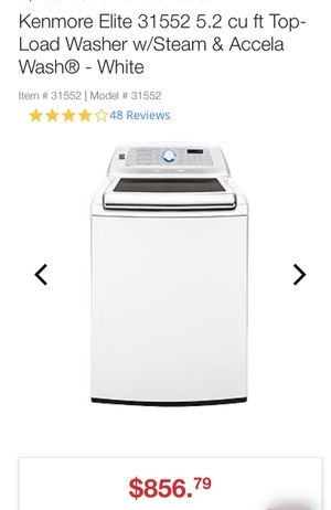 Kenmore Elite (Load Washer) W/Steam And Accela Wash for Sale in Bakersfield, CA