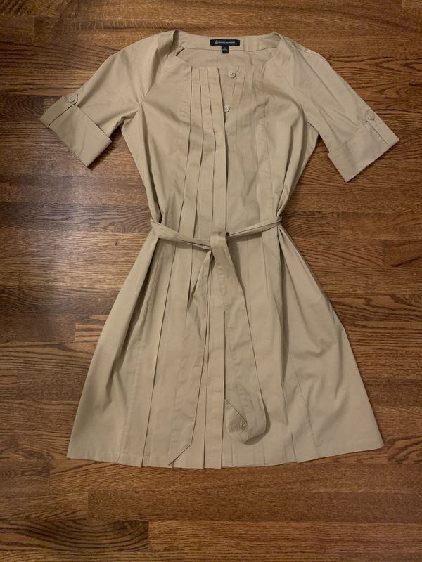 Brooks brothers trench style khaki dress