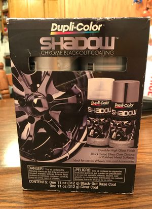 Dupli-color Shadow Chrome Black-out coating for rims for Sale in Minneapolis, MN