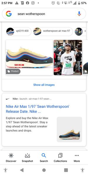 Nike Air Max 1/97,'Sean Witherspoon size:10...I'll take $100 off..if purchased before 9pm.. for Sale in Los Angeles, CA