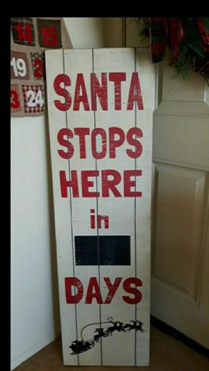 Kirkland's Vintage Christmas chalkboard countdown sign for Sale in Glendora, CA