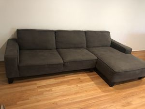 Sectional couch with storage ottoman for Sale in Riverside, CA