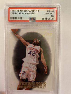 1995 Flair Scrapbook Jerry STACKHOUSE pop 1 for Sale in Anaheim, CA