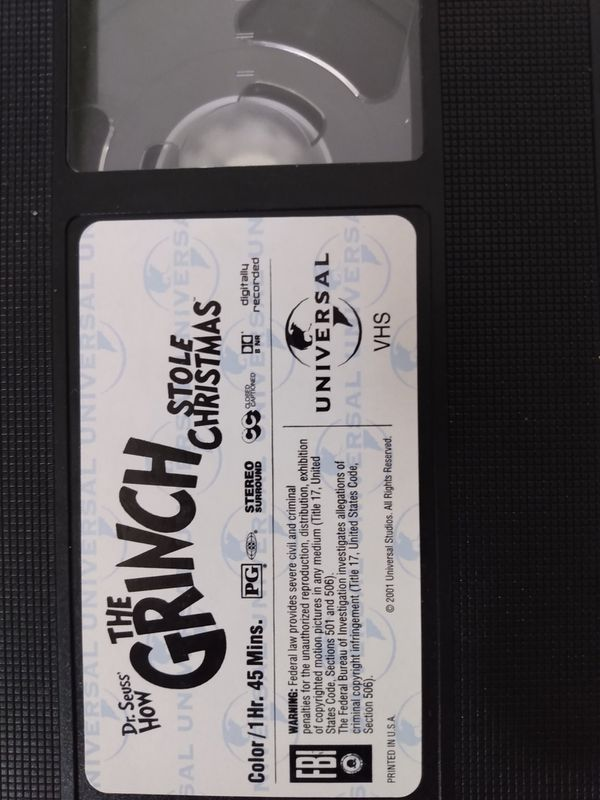 How the Grinch stoled Christmas vhs
