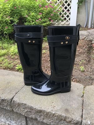 Coach - Rain Boots - size 8 for Sale in Tyngsborough, MA