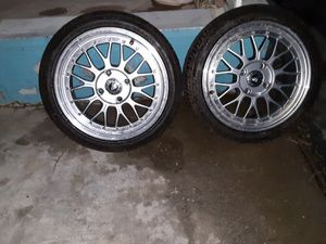 All 4 Velox racing rims with brand new tires for Sale in Desert Hot Springs, CA