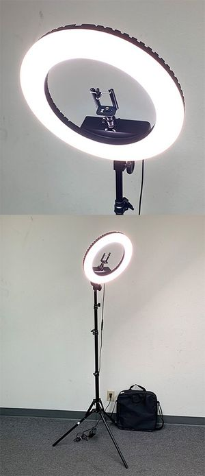 "New in box $75 each LED 13"" Ring Light Photo Stand Lighting 50W 5500K Dimmable Studio Video Camera for Sale in Whittier, CA"