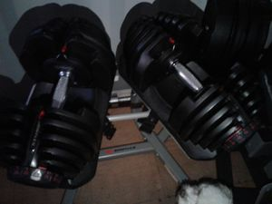 Bowflex selec tech, sole e95 elliptical, norditrac treadmill, dumb bell complete set and rack for Sale in Martinsburg, WV
