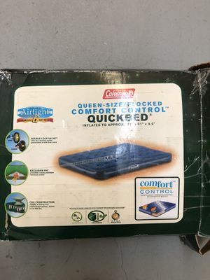 Coleman Queen Size Air Mattress w Two Pumps for Sale in Portland, OR