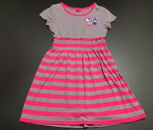 Hello kitty stripe dress pink gray for Sale in Chicago, IL