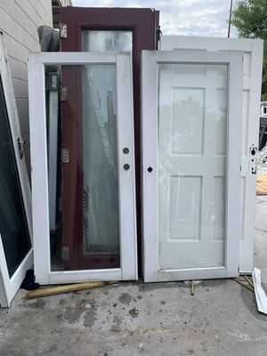 aluminum french doors front or back door for Sale in Pompano Beach, FL