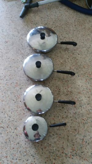 "REVERE WARE COPPER CLAD SKILLET FRYING PANS 6,8,9 & 10 inch ""GREAT COND"" for Sale in North Miami, FL"