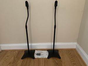 Pair of Metal Speaker Stands Height Adjustable (Black, 1 Pair) for Sale in Clarksville, MD