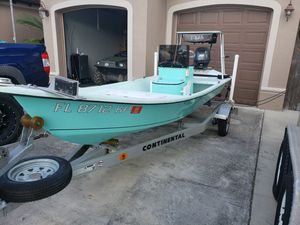 "15'6"" micro skiff flats boat for Sale in Homestead, FL"