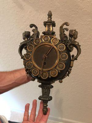 Vintage mermaid angel sconces with angel mermaid clock three-piece set. for Sale in Lake Worth, FL