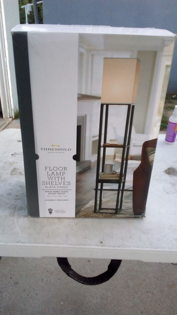 Threshold - floor lamp with shelves