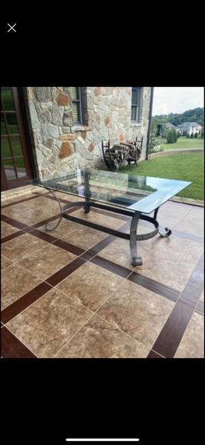 Outdoor/Indoor Glass Dining Table for Sale in Nashville, TN