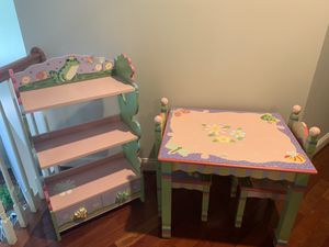 Kids Magic Garden Table, Chairs & Bookshelf set for Sale in Ashburn, VA