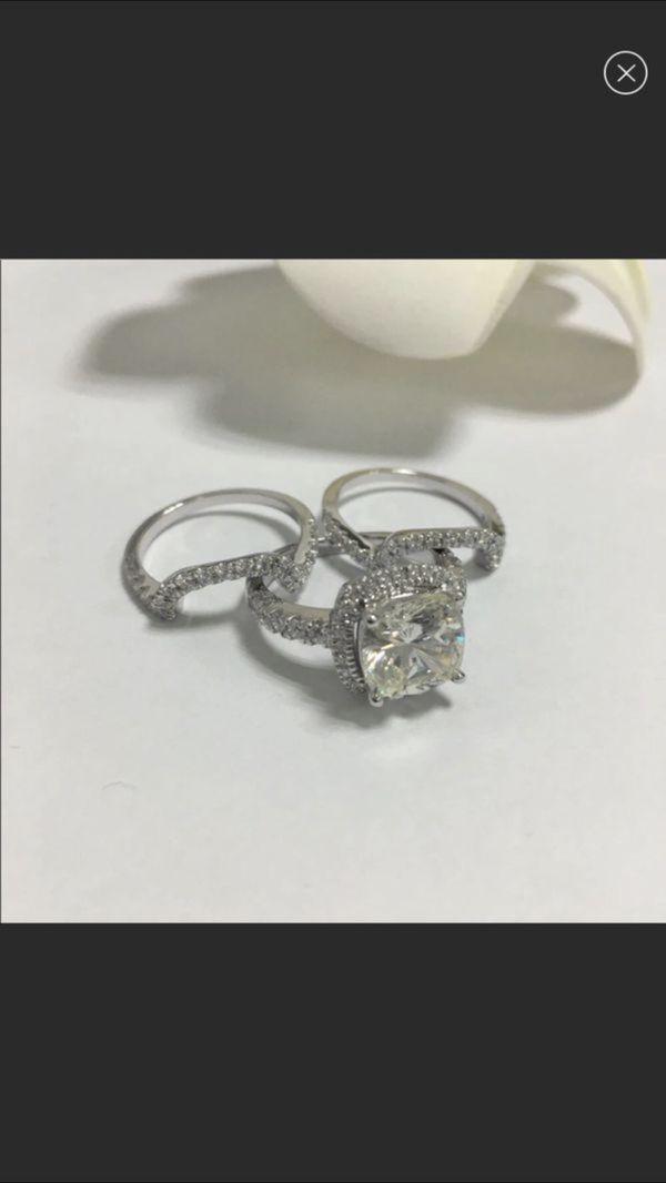 4.75/6.5/7.5/8/8.5/9/10 new 10k gold engagement ring set
