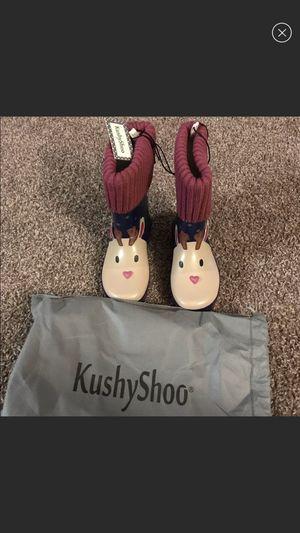Brand new Kushyshoo size 13 little girl rain boots for Sale in Villa Rica, GA
