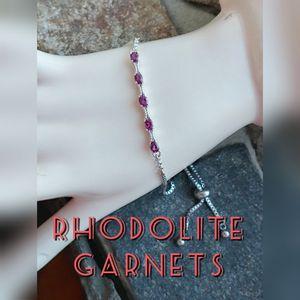 NEW Genuine Rhodolite Garnets Bracelet for Sale in Pompano Beach, FL