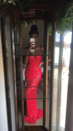 Red beaded fringe Prom dress for Sale in Wahneta, FL