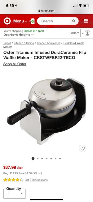 Waffle maker for Sale in Detroit, MI