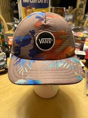 Vans Men's Women's Unisex Snapback Gray Aloha Floral Trucker Hawaii Hat. for Sale in El Paso, TX