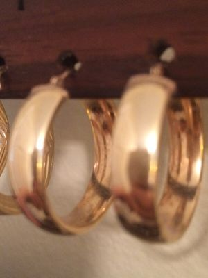 Gold Hoop Earrings for Sale in Charlotte, NC