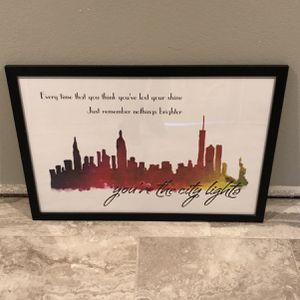 Bridgit Mendler 'City Lights' Inspired Poster for Sale in Renton, WA