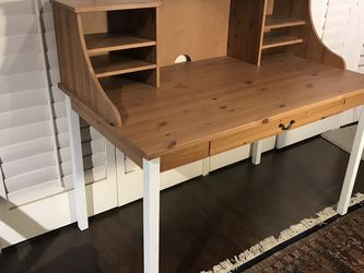 Nice Solid Wood Desk With Storage for Sale in Huntington Beach,  CA